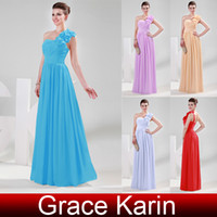 5 Colors Classic One Shoulder Ruched Bridesmaid Dresses Form...