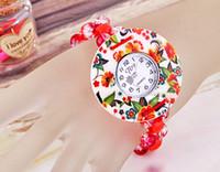 Wholesale mm Round Red Plastic Beads Flower Shell Bracelet Wrist Watch