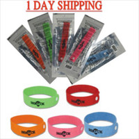 Wholesale 5 Color Mix GREENLUCK Mosquito Repellent Band Bracelets Anti Mosquito Pure Natural Baby Wristband Hand Ring