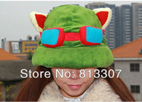 Wholesale League of Legends LOL Teemo Cosplay Cute Plush Cotton HAT Cap for Adult Hats