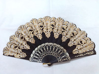 Wholesale hand made inches plastic amp cloth fans Bridal wedding fans Folding fans colors available