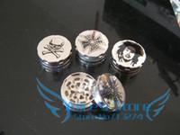 Wholesale dia cm layer Metal herb grinder Silver Tobacco Grinder Machine Gift Promotion GR098