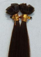 Cheap Peruvian Hair flat tip hair extensions Best 4# Medium Brown Straight brazilian hair extensions