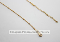 Wholesale Panpan inches Stainless steel gold ball station chain floating locket chains necklace chain
