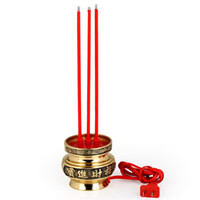 Wholesale Copper electric incense burner buddha with supplies buddhism supplies electricity incense burner