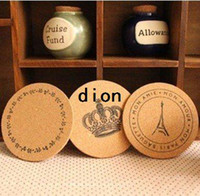 Wholesale Freeshipping New Cute cork wooden Coffee Cup Coaster Tea Mat amp pads fashion style