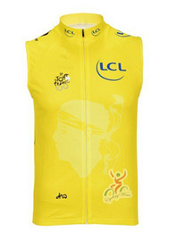 Tour De France 2013 YELLOW Sleeveless Vest ONLY Bicycle Bike Wear Cycling Jersey Size XS-4XL