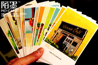Paper   Boxed Postcard hand-painted China city of Shanghai paper memory Postcard Birthday Card Greeting Card 3 sets (1 sets of 30 Zhang)