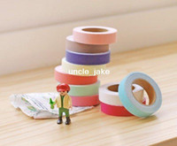 Wholesale Freeshipping NEW High quality solid color fabric tape DIY Decoration sticker tape Adhesive Tape