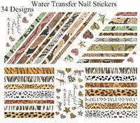 Wholesale Nail Art Water Transfers Nail Stickers Animal Pattern Chirstmas Nail Sticker designs Nail Decals UHOT01