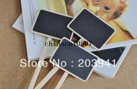 Wholesale 30X MINI CHALKBOARD SIGNS ON BAMBOO SKEWERS BRAND NEW DIY Multifunction BLACKBOARDS