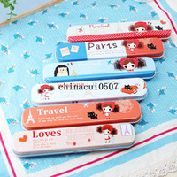 Cheap Metal New lovely girl travel wo Best Pencil Case Schools & Offices Cheap New lovely girl tra