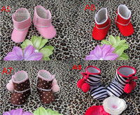 Girl Spring / Autumn Fabric Fashion 3010 New baby baby cotton shoes ugg boots shoes kids alone