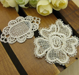 Wholesale White and Gold Embroidery Flower Applique Wedding Accessories Bridal Veil Lace