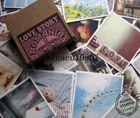 Copier Paper China (Mainland) H0298P Freeshipping! 70Pcs set Vintage romania love story gift card greeting Birthday wedding kraft paper box Wholesale