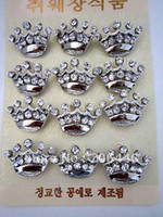 Wholesale SILVER TONE ZINC ALLOY RHINESTONE MINI CROWN Pin BROOCH For Pageant