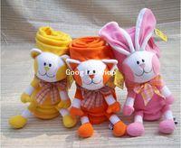 Coral Fleece polar fleece blanket - New Funny Polar Fleece Blanket Swaddling For Kids Cute Rabbit CM