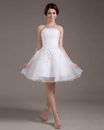 Wholesale 2014 Fashionable Flowers Empire Wedding Dresses Evening dresses Party dress Mother Bride Bridal Gown Short amp Mini Skirt Wedding Dress M01