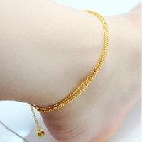 Alloy / Silver / Gold other / other Japan and South Korea Multi-line Anklets 2013 latest Korean pop gold-plated 24K gold jewelry simulation lasting not fade