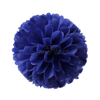 Wholesale Navy Blue Tissue Paper Pom Poms Flower Balls Wedding Party Outdoor Decor Favor Colors Supply quot cm