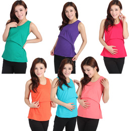 Wholesale Elastic oversized Maternity Nursing Wear Maternity nursing clothes nursing vest summer underwear