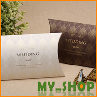 Wholesale Wedding Favors Box Paper White Brown Creativity European Style Luxury Wedding Candy Boxes