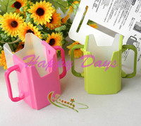 Wholesale 50PCS Adjustable Grip N Sip Juice Box Buddies For Baby Children Mike Box Bag Holder Cup Buddy Carrier Via EMS