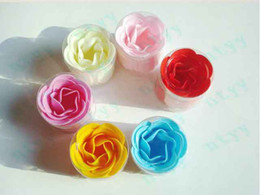 Wholesale 100Pcs Rose Soaps Flower Packed Wedding Supplies Gifts Event Party Supplies Favor