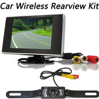 Cheap Wireless Car Rearview Security Reversing Parking 7LEDs IR Night License Plate Camera 3.5 inch TFT LCD Monitor Kit....10pcs lot