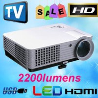 Wholesale 2200lumens Home Theater Video DVD TV HDMI P LCD Mini Portable D Cinema HD LED Projector Beamer Proyector