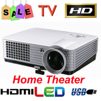 Wholesale Cheap LUMENS Home Theater P HD LCD LED Projector HDMI USB AV TV