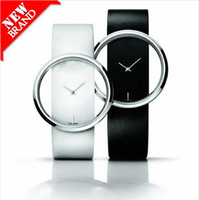 Wholesale Promotion Retail Fashion Men and women s Leather Hollow Transparent Fashion Wrist Watch Classic W35344H01