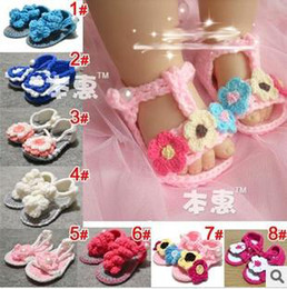 Wholesale Crochet Shoes Baby Prices - Clearance price Handmade Flower girl crochet shoes 2013 baby first walker Cartoon Crochet shoes Toddler shoes infant shoes children shoes