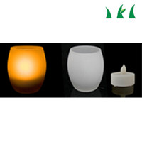 Wholesale High Quality LED Candles Gross Glass LED Candle Sensor Controlled Egg LED Candle Lights Yellow Color With AAA Batteries