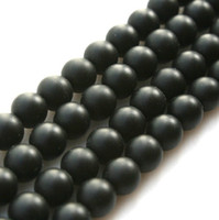 Wholesale AAA DIY mm mm natural black matte onyx agate Round spacer loose beads fit bracelet LS001