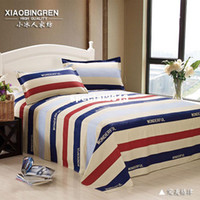 Wholesale Small iceman cotton sheets cotton plus size double single coverlet print bed sheet