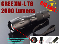 Wholesale UltraFire E17 CREE XM L T6 Lumens High Power CREE LED Torch Zoomable CREE LED Flashlight torches light for x AAA or x battery
