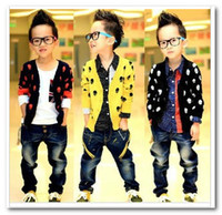 Wholesale 2013 Autumn Children s Cardigan Boys Skull Wool Cardigans outwear Kids Long Sleeve Coat Yellow Black Blue Color