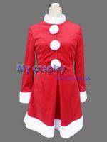 Animal Christmas Angel Christmas Gift -- Red Women Overcoat Christmas Cosplay Costume Freeshipping