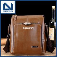 Wholesale 2013 leisure business security design men genuine leather briefcase