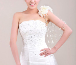 Wholesale Pearl Wedding Shoulder Shoulder Chain Ornament Straps Diamond Wedding Dress Accessories