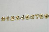 Wholesale sale mm gold color slide number fit for bracelet