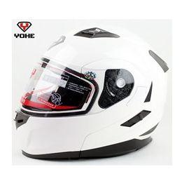 undrape face helmet white YOHE 953 doublelens dual Lens open face motorcycle Motorbike ABS shell helmets