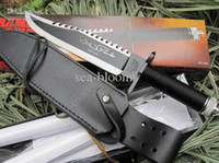 Wholesale OEM Rambo II survival knife HRC J2 camping knife hunting hiking knife outdoor knife Christmas gift