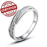 Wholesale Certified Solid Sterling silver k gold plated CZ ring for women s new wedding jewelry