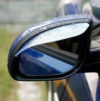 Precio de Coche espejo decorativo-Espejo de Rearview de coche creativo Escudo de lluvia incrustado Visera de Sun Flexible accesorios decorativos de plástico 1 par