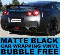 Wholesale Black Matte Vinyl Car wrap Film with air drain vehicle wraps m roll MV30m Drop shipping