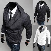 Wholesale New Men s Jacket Men s Hoodie Jacket Slim Zipper hooded men s coats Casual men s outwear with glove mens jacket white