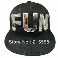 Wholesale Snapback FUN Rivet Baseball Cap D Letters Bolted Mens Cap Hat ZHT17