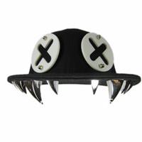 Wholesale Hip Hop Punk Snapback Tooth Teeth Rivet Baseball Cap Bolted Mens Cap Hat ZHT20